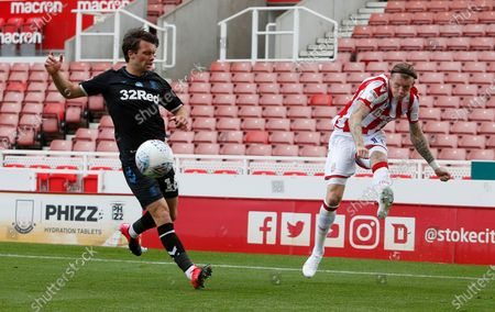 Stoke City's James McClean crosses the ball