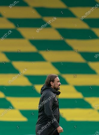 Norwich City Manager Daniel Farke looks dejected at full-time