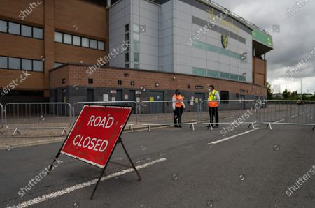 Restricted access outside of Carrow Road ahead of the game against Manchester United