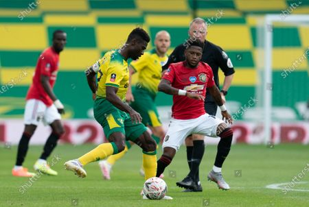Alexander Tettey of Norwich City and Fred of Manchester United