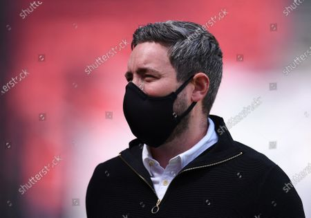 Ashton Gate Stadium, Bristol, England; Lee Johnson Manager of Bristol City before kick off; English Football League Championship Football, Bristol City versus Sheffield Wednesday.