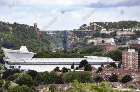 A general ground view with the Clifton Suspension Bridge seen beyond.