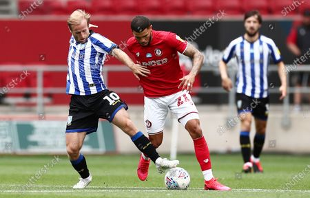 Barry Bannan of Sheffield Wednesday and Nahki Wells of Bristol City.