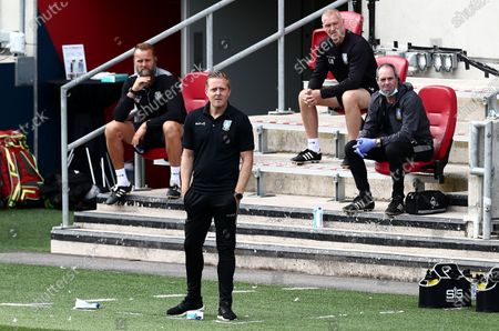 Sheffield Wednesday Manager Garry Monk watches on.