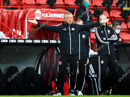 Sheffield United manager Chris Wilder reacts