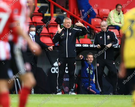 Sheffield United manager Chris Wilder issues instructions