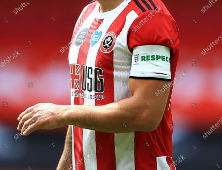 Billy Sharp of Sheffield United wearing the Respect captains armband