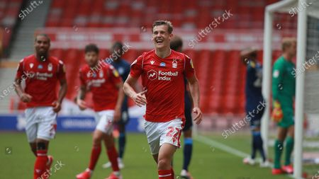Ryan Yates is all smiles after scoring the third During the EFL SkyBet Championship match between Nottingham Forest and Huddersfield Town.