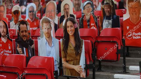 A couple of familiar Royal faces in the crowd at The City Ground.