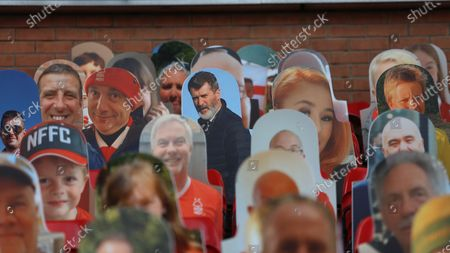 Ex-Forest player and assistant manager Roy Keane in the crowd at The City Ground.