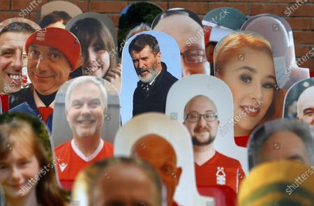 Roy Keane is amongst the cardboard fans