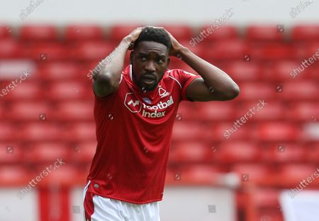 Nottingham Forest's Sammy Ameobi shows frustration