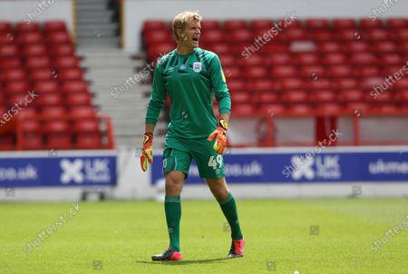 Huddersfield Town's Jonas Lossl