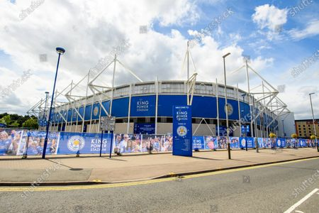 General view of the King Power stadium prior to kick off.