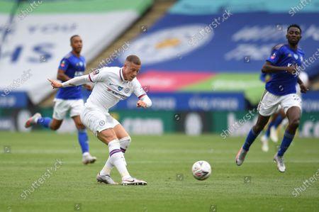 Ross Barkley of Chelsea has a shot towards goal.