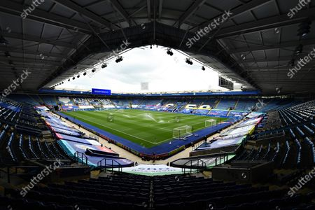 General view inside the King Power stadium prior to kick off.