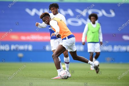 Reece James of Chelsea and Tammy Abraham of Chelsea warm up.