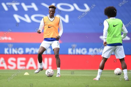 Tammy Abraham of Chelsea warms up.