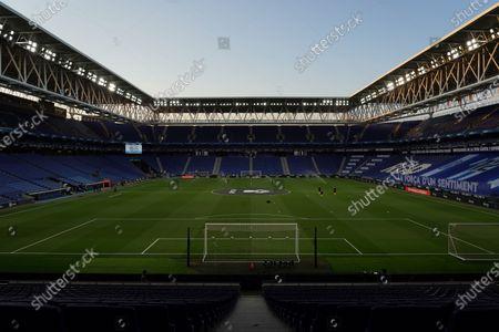 RCDE Stadium, Barcelona, Catalonia, Spain; The RCDE Stadium empty due to the covid; La Liga Football, Real Club Deportiu Espanyol de Barcelona versus Real Madrid.