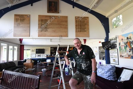 Angus Fraser has spent lockdown painting the pavilion at the club where it all began. The pose evokes memories of his distinguished playing career - hunched and looking exhausted - except that the seam bowler's scowl has been replaced by a smile and the shirt is dappled in paint rather than sweat. Hugely industrious during 46 Test appearances that propelled him into England's top 10 wickettakers, plus hundreds of other matches for his beloved Middlesex, Angus Fraser has continued the hard graft theme during cricket's coronavirus curtailment. Three months of inactivity has provided the chance to repay his childhood club Stanmore by decorating the 167-year-old club's pavilion.