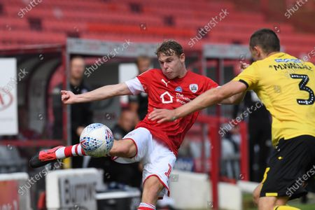 Barnsley's Kilian Ludewig on the ball.