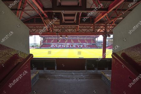 View from Barnsley FC'S west stand.