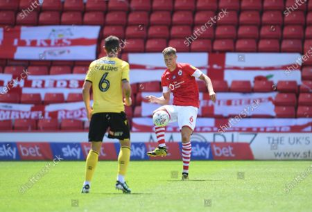 Barnsley's Mads Anderson one the ball.