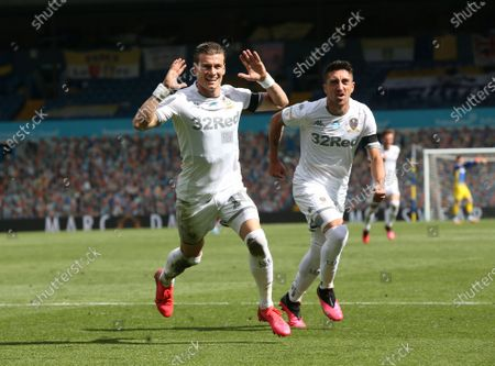 Gianni Alioski celebrates scoring Leeds second goal