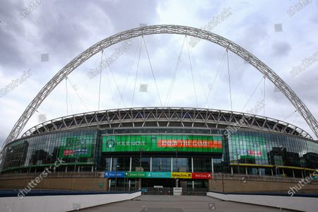 Wembley Stadium, with Your Move branding, before the SkyBet League 2 play off final between Exeter City and Northampton Town