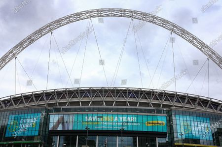 Wembley Stadium, with Utilita branding, before the SkyBet League 2 play off final between Exeter City and Northampton Town