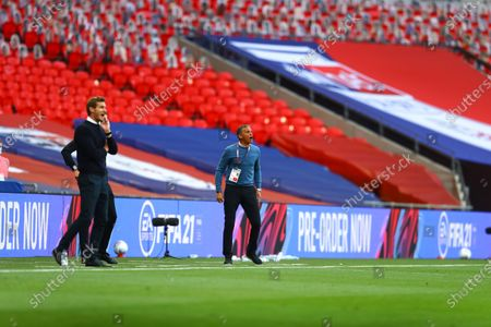 Action inside Wembley Stadium, with FIFA branding, during the Sky Bet League 2 Play off Final between Exeter City and Northampton Town