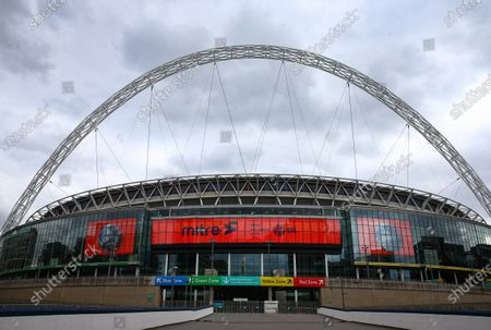 Wembley Stadium, with Mitre branding, before the SkyBet League 2 play off final between Exeter City and Northampton Town