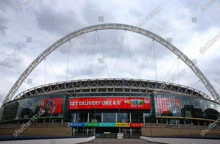 Wembley Stadium, with Just Eat branding, before the SkyBet League 2 play off final between Exeter City and Northampton Town