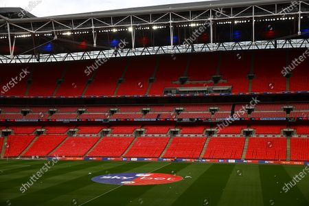 Sky Bet branding, inside Wembley Stadium, before the SkyBet League 2 play off final between Exeter City and Northampton Town
