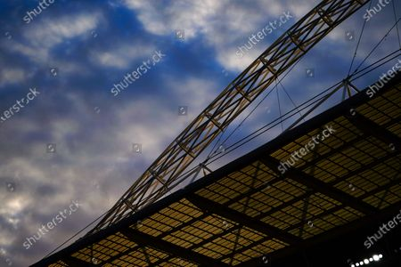 The arch over Wembley Stadium during the match between Exeter City and Northampton Town for the League 2 Play Off Final