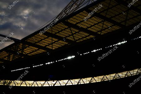 The sun sets over Wembley Stadium during the match between Exeter City and Northampton Town for the League 2 Play Off Final