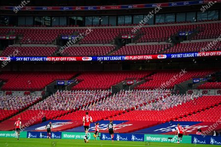 Mind branding inside Wembley Stadium during the Sky Bet League 2 Play off Final between Exeter City and Northampton Town