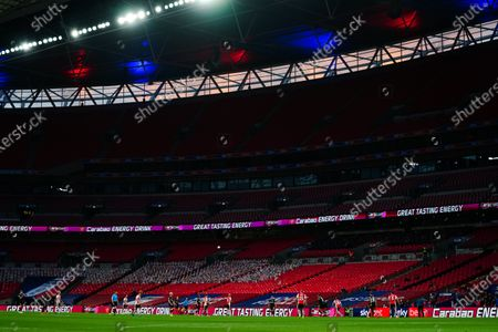 Carabao Mixed Berry branding inside Wembley Stadium during the Sky Bet League 2 Play off Final between Exeter City and Northampton Town