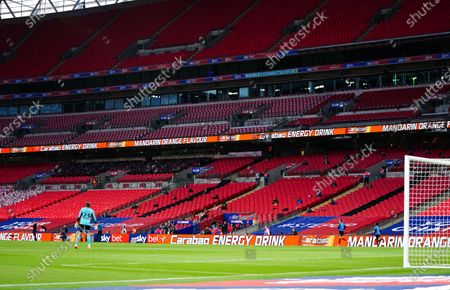 Carabao Orange branding inside Wembley Stadium during the Sky Bet League 2 Play off Final between Exeter City and Northampton Town