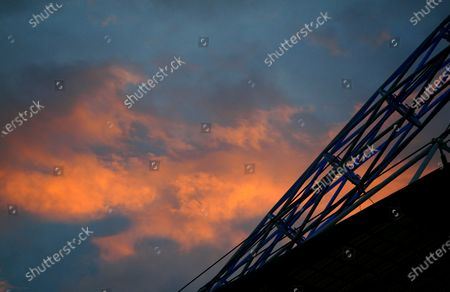 Sunset over the Wembley arch