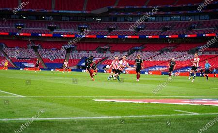 Mark Marshall of Northampton Town has a shot on goal - Sky Bet LED