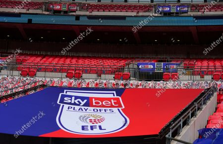 Sky Bet branded seat kills and Exeter fan cardboard cutouts