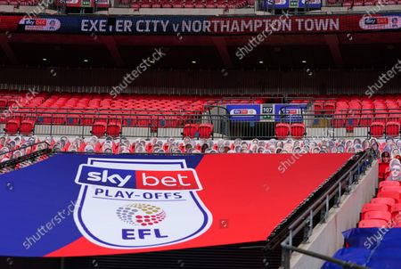 Sky Bet and EFL branding, before the League 2 play off final between Exeter City and Northampton Town