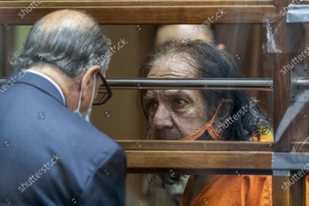 Stock Image of Adult film star Ron Jeremy talks (R) with his attorney Stuart Goldfarb during his arraignment on rape and sexual assault charges at Clara Shortridge Foltz Criminal Justice Center in Los Angeles, California, USA, 26 June 2020. Jeremy, whose real name is Ronald Jeremy Hyatt, is charged with raping three women and sexually assaulting another in separate incidents between 2014 and 2019. The 67-year-old defendant could face up to 90 years to life in state prison if convicted as charged.