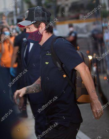FC Barcelona's Leo Messi arrives at the concentration hotel in Vigo, Galicia, northern Spain, 26 June 2020. FC Barcelona will face Celta de Vigo on 27 June on a Spanish LaLiga soccer match.