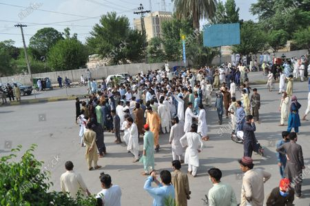 Editorial picture of Protest against inhuman and immoral attitude of police, Peshawar, Pakistan - 26 Jun 2020