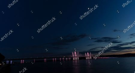 Editorial picture of NY: Landmarks lit in honor of Pride Month, Tarrytown, New York, United States - 26 Jun 2020