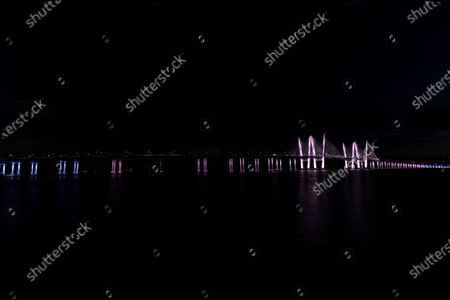 Editorial photo of NY: Landmarks lit in honor of Pride Month, Tarrytown, New York, United States - 26 Jun 2020