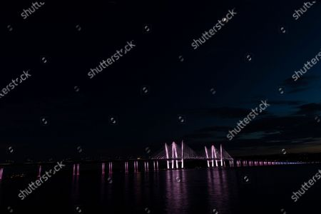 Editorial image of NY: Landmarks lit in honor of Pride Month, Tarrytown, New York, United States - 26 Jun 2020