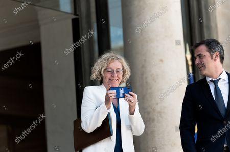 Olivier Veran (Ministre de la Sante) and Muriel Penicaud (Ministre du Travail).